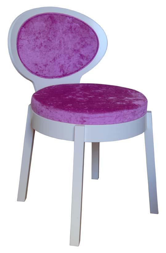 Sedia modello Seattle, struttura in legno, imbottitura e colorazioni personalizzabili